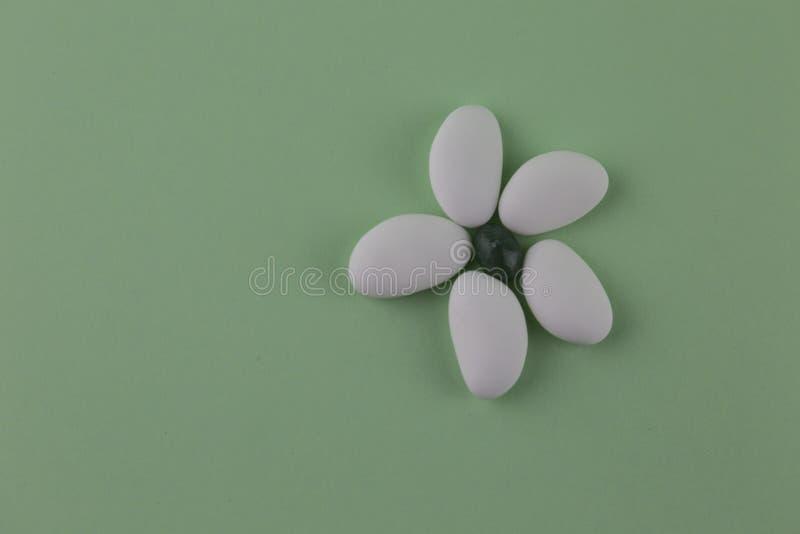 Миндалины засахаренные белизной стоковые фотографии rf