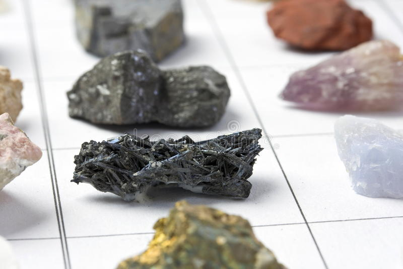 минералы собрания стоковое изображение rf