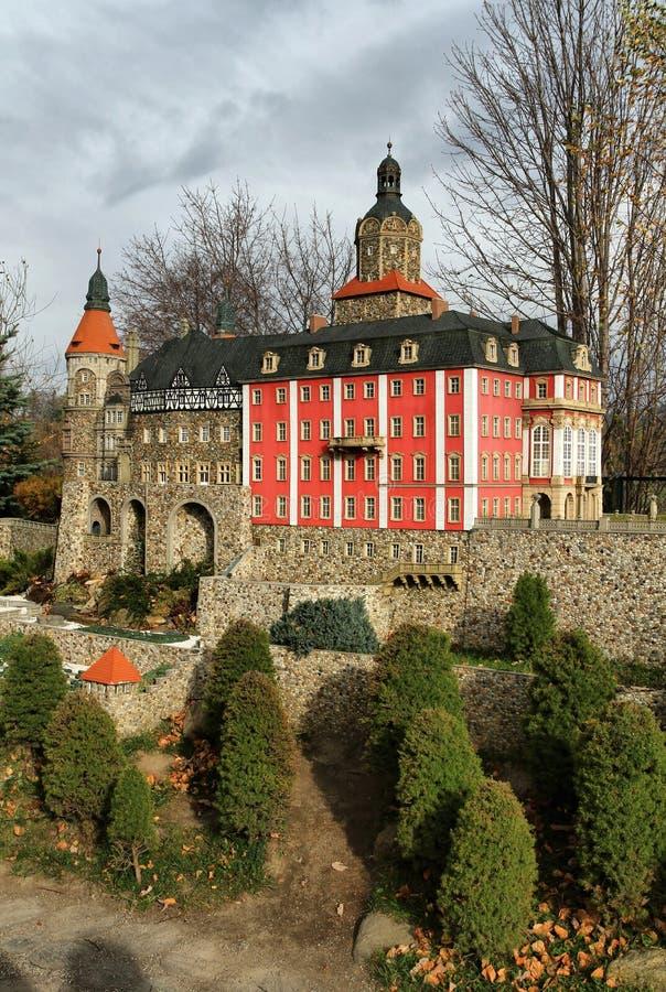 Миниатюра замка Ksiaz стоковое фото