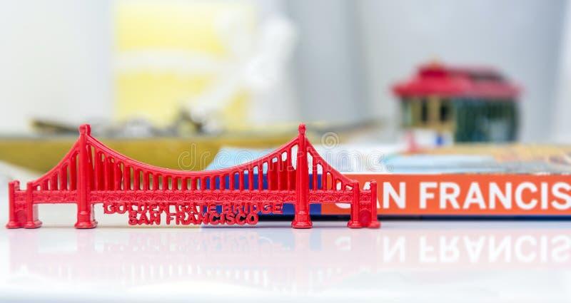 Миниатюра моста золотого строба стоковые фото