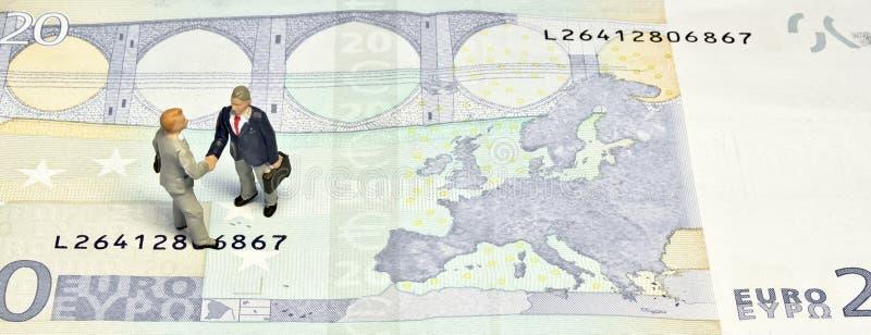 миниатюра 20 рукопожатия евро стоковое изображение