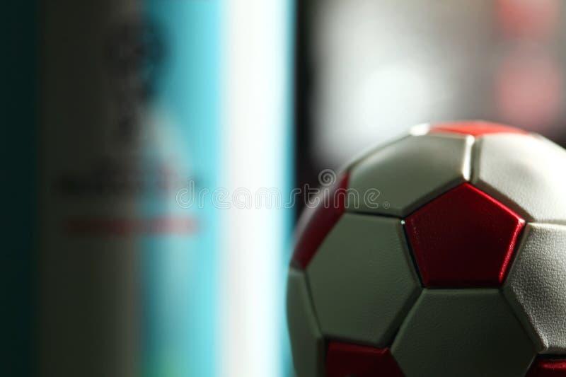 Миниатюрная сцена футбола стоковые изображения rf