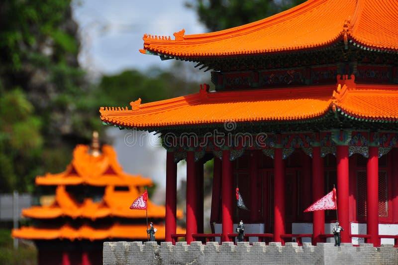 Миниатюрные китайские Pagodas стоковые изображения rf