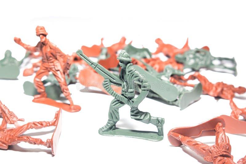 Миниатюрные оловянные солдатики стоковая фотография