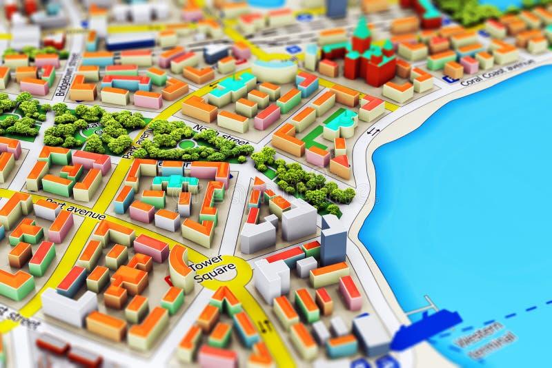 Миниатюрный город бесплатная иллюстрация