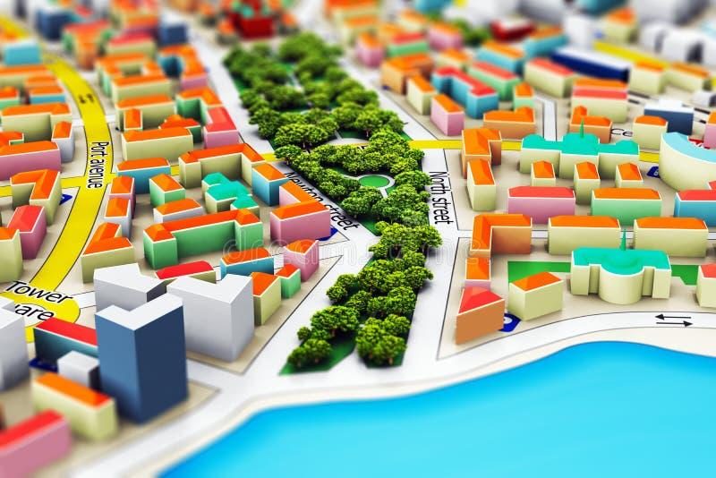Миниатюрный город иллюстрация штока