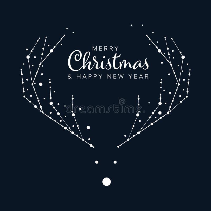 Минималистская рогулька рождества/шаблон карточки бесплатная иллюстрация