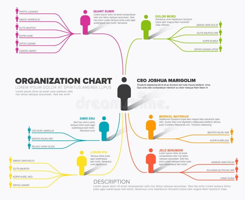 Минималистская схема иерархии организации компании иллюстрация штока
