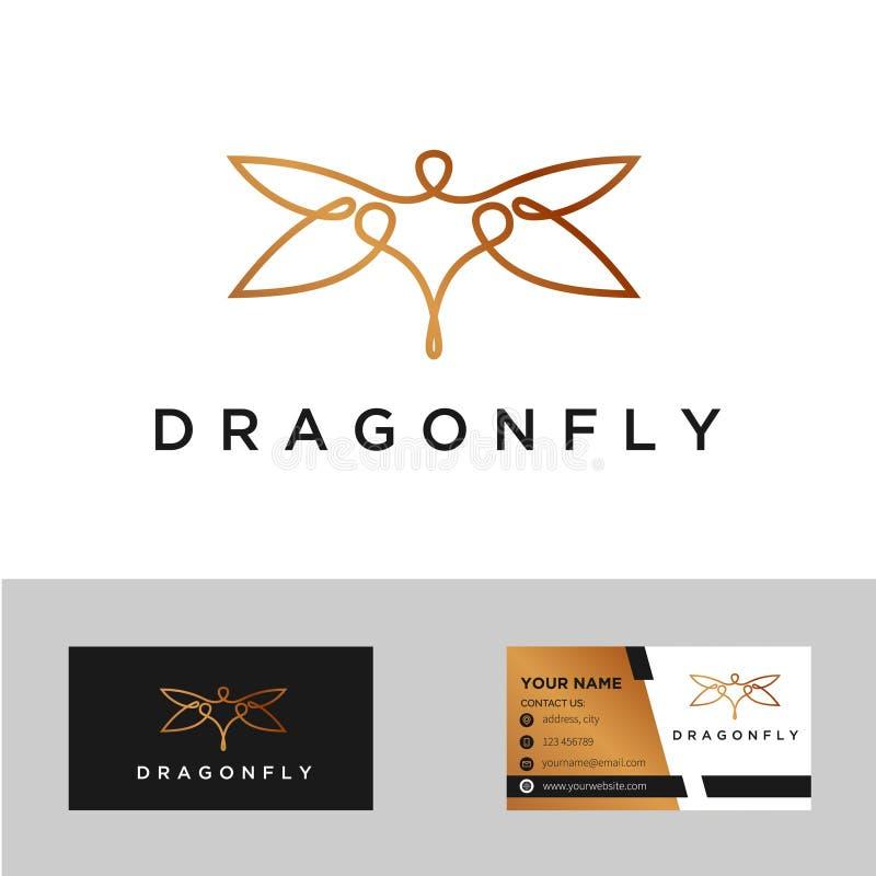Минималистский элегантный дизайн логотипа бабочки с линией стилем искусства вектор иллюстрация вектора