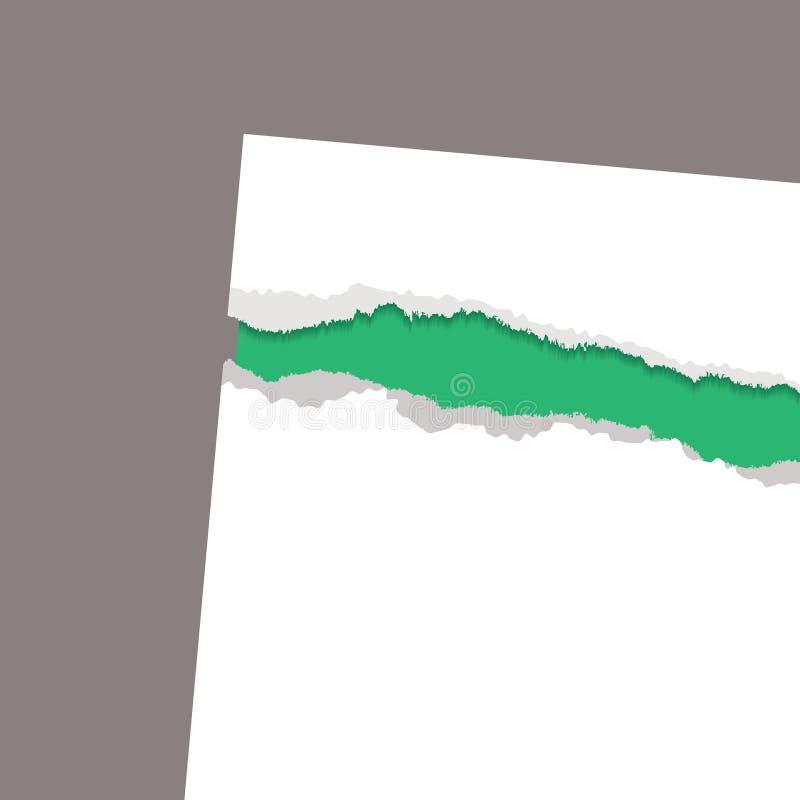 минимальная бумага показывает сорвано иллюстрация штока
