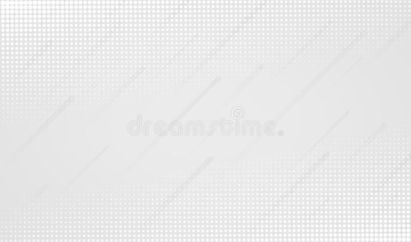 Минимальная геометрическая белая абстрактная предпосылка бесплатная иллюстрация