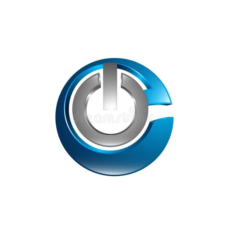 Минимальная линия логотип дизайна, значок дела, клеймя эмблема, сила иллюстрация штока