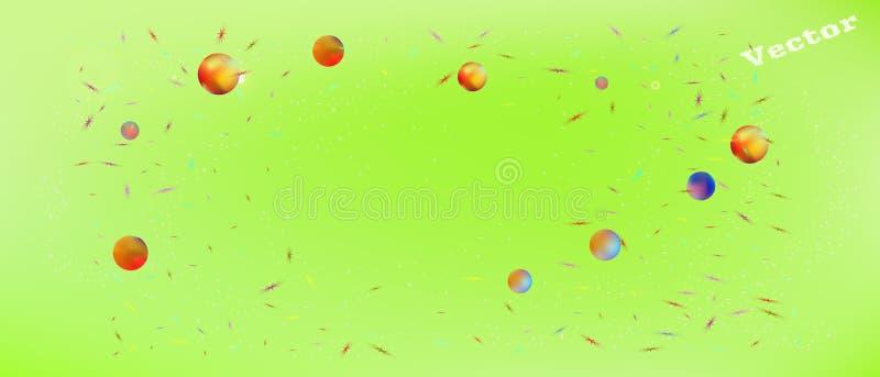 Минимальная предпосылка космоса конспекта ультра широкая иллюстрация вектора