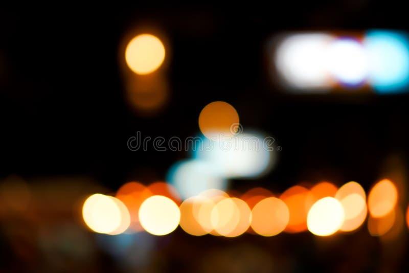 Минимальная тема расплывчатого и bokeh черноты и желтое, оранжевое, голубое, белое для предпосылки текста или журнала стоковая фотография rf