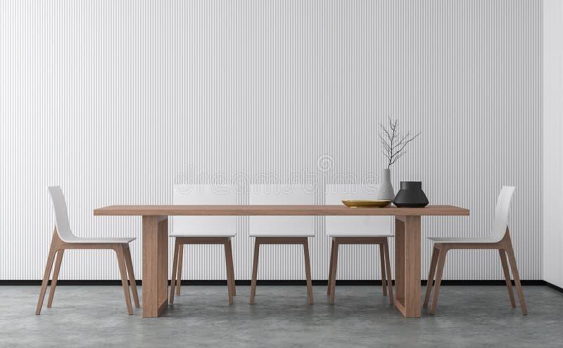 Минимальное изображение перевода столовой 3d стиля иллюстрация вектора