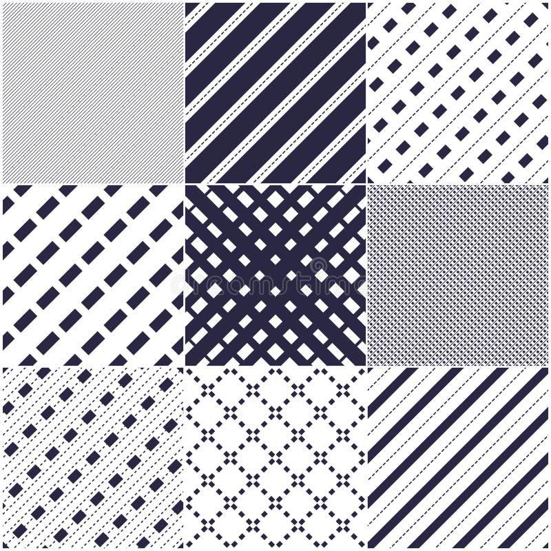 Минимальные линии безшовные картины установили, абстрактные предпосылки иллюстрация штока