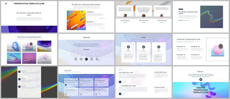Минимальные представления, шаблоны портфолио Простые элементы на белой предпосылке Дизайн вектора крышки брошюры бесплатная иллюстрация