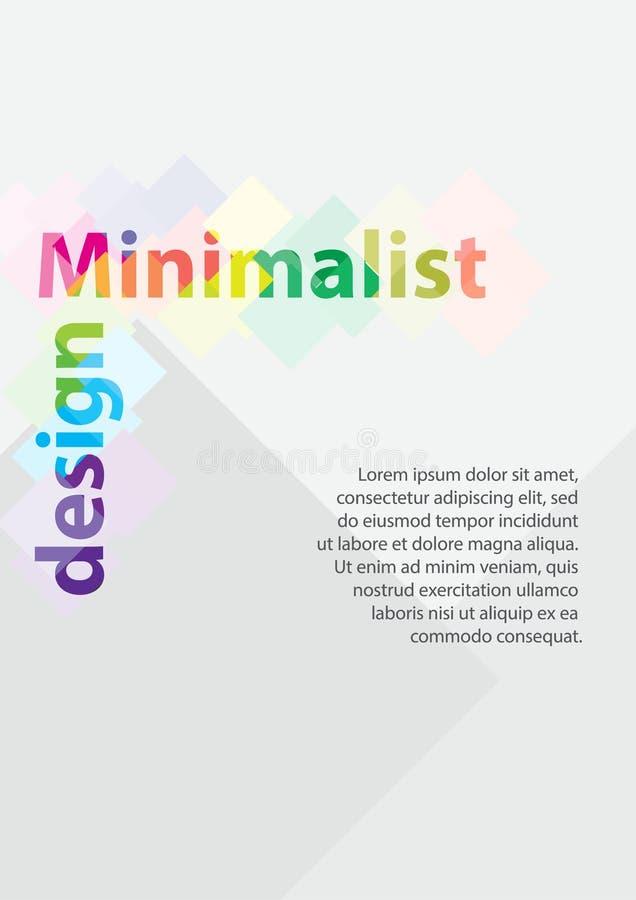 Минимальный дизайн цвета A4 Открытка, рогулька, плакат, афиша, знамя, крышка, буклет, брошюра, листовка, каталог бесплатная иллюстрация
