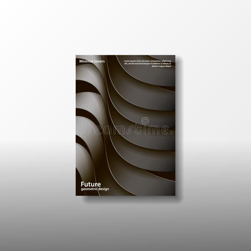 Минимальный дизайн цвета A4 Открытка, рогулька, плакат, афиша, знамя, крышка, буклет, брошюра, листовка, каталог иллюстрация вектора