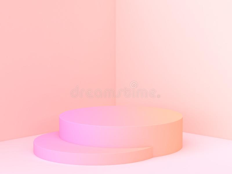 Минимальный перевод сцены 3d угла стены конспекта подиума градиента бесплатная иллюстрация