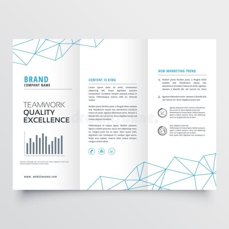 Минимальный trifold шаблон дизайна брошюры для вашего дела бесплатная иллюстрация