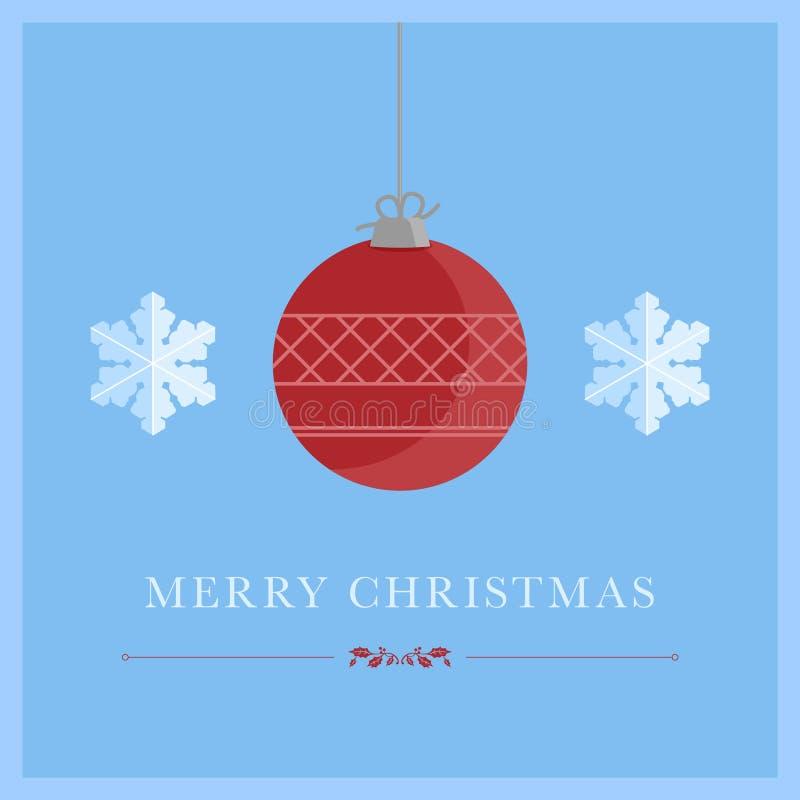Минималистская рождественская открытка с символами рождества иллюстрация вектора