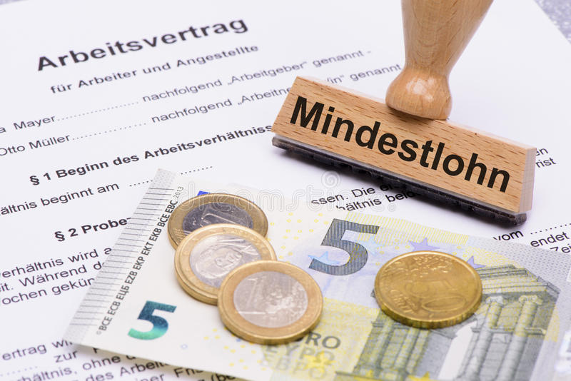 Минимальные заработные платы в Германии стоковые изображения