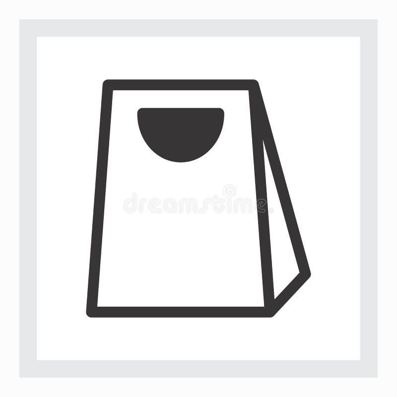 Минимальный значок хозяйственной сумки иллюстрация штока