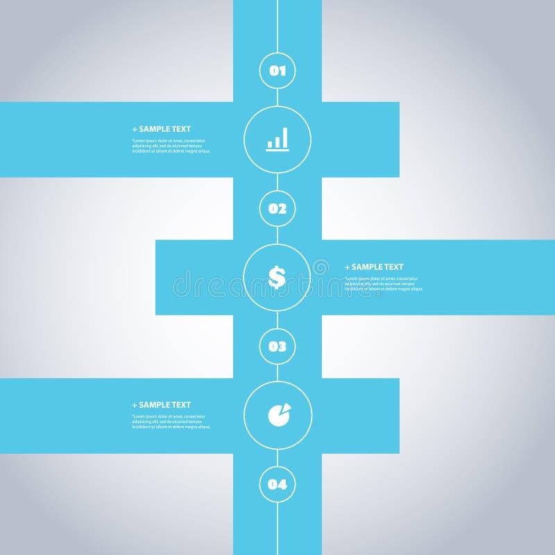 Минимальный дизайн срока - элементы Infographic с значками иллюстрация штока