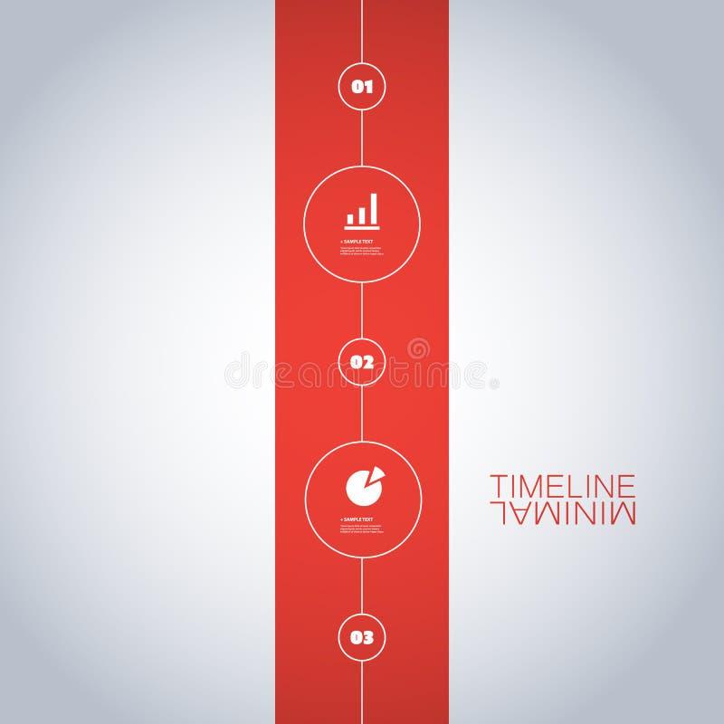 Минимальный дизайн срока - элементы Infographic с значками бесплатная иллюстрация