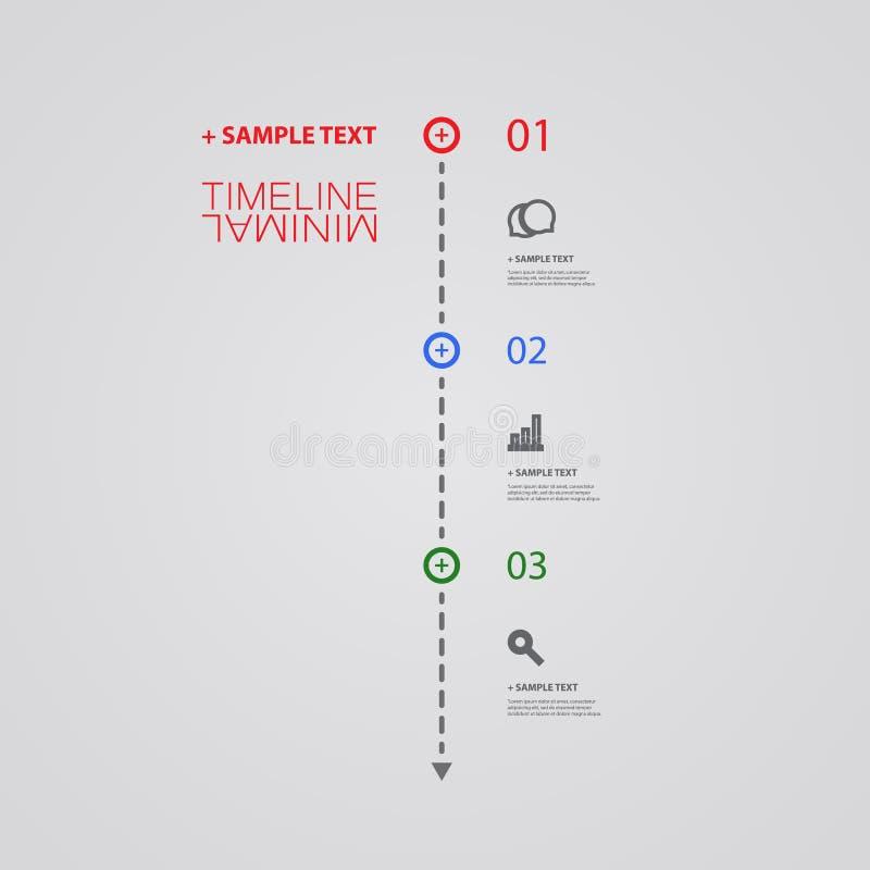 Минимальный дизайн срока - элементы Infographic с линейными значками иллюстрация штока