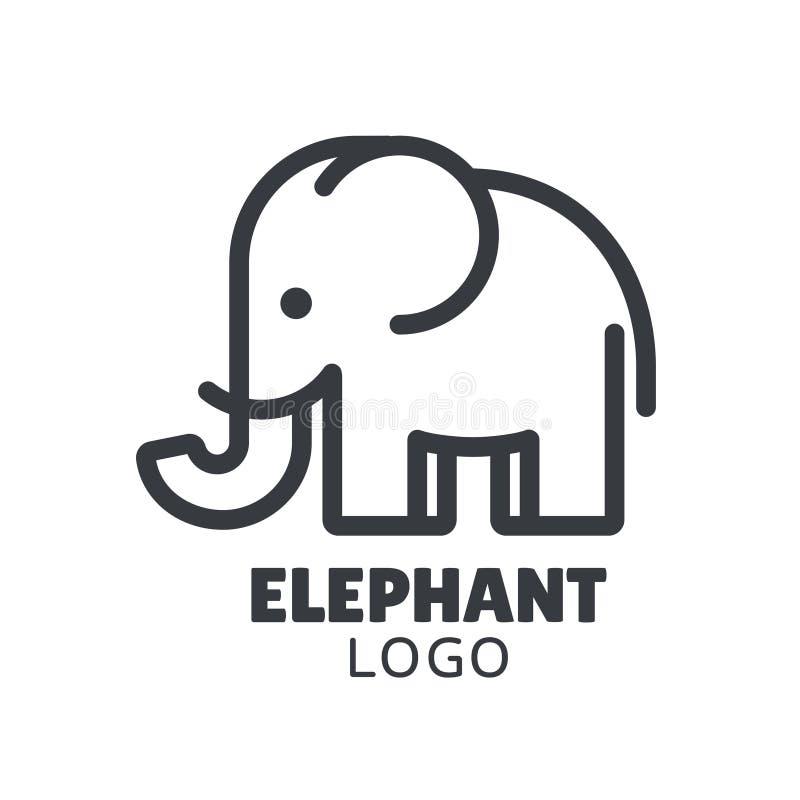 Минимальный логотип слона иллюстрация вектора