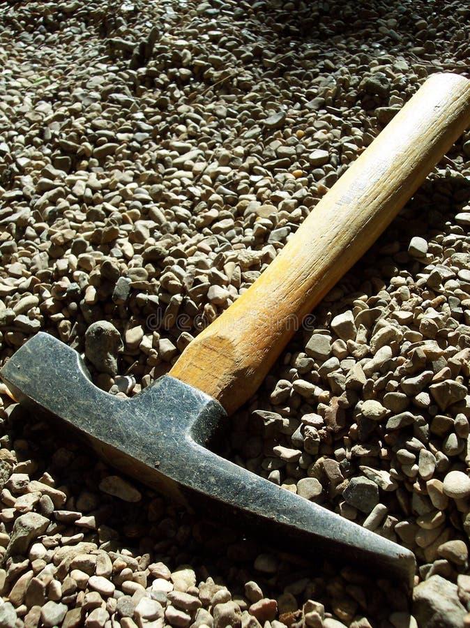 минирование молотка зубила стоковое изображение rf