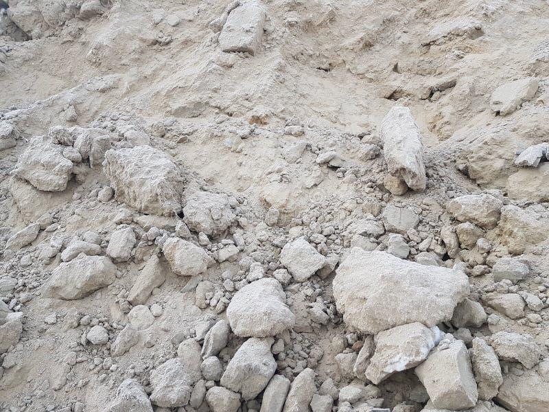 Минирование песка, свободная почва Строительная промышленность стоковое изображение