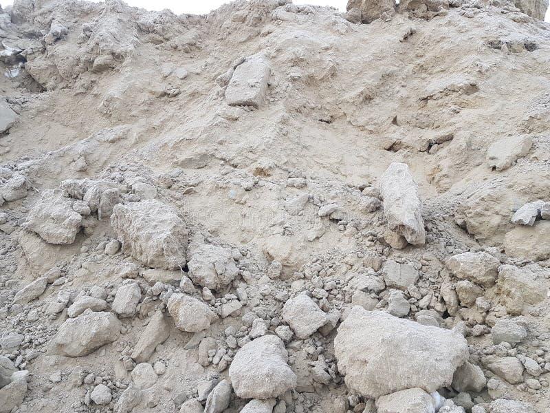 Минирование песка, свободная почва Строительная промышленность стоковые фотографии rf