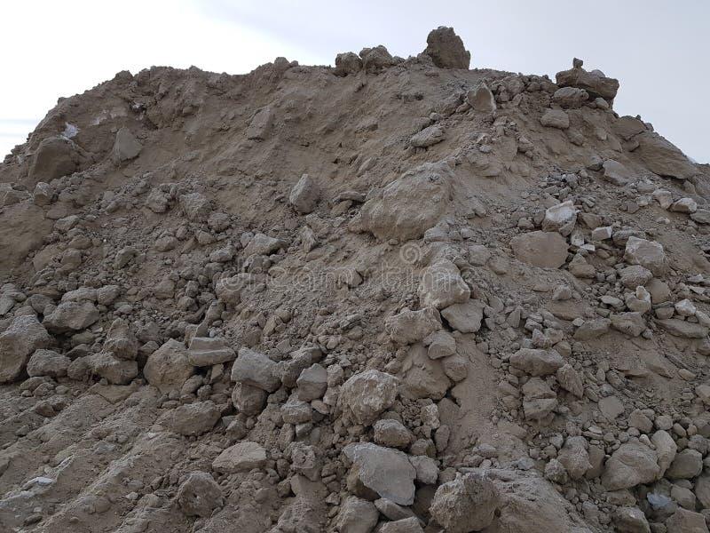 Минирование песка, свободная почва Строительная промышленность стоковые фото
