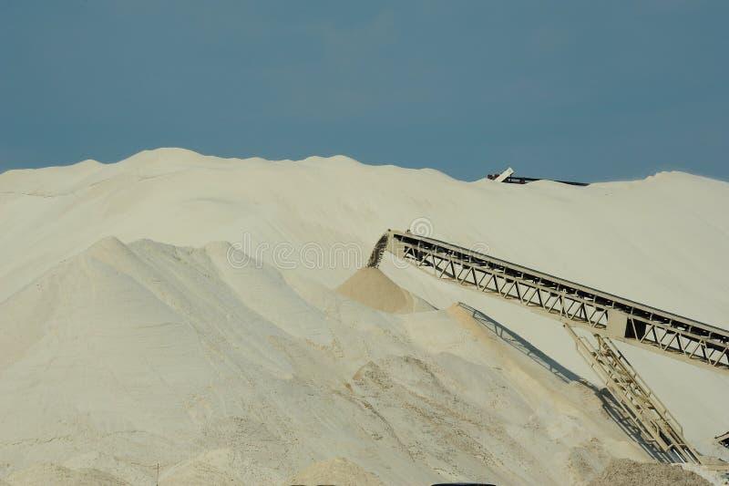 Минирование песка Frac стоковое фото