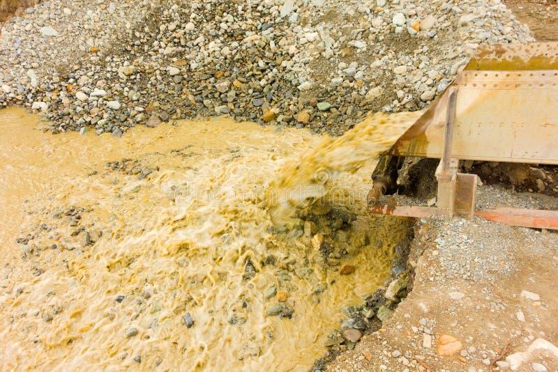 Минирование Placer на малой заявке в территориях Юкона стоковое фото