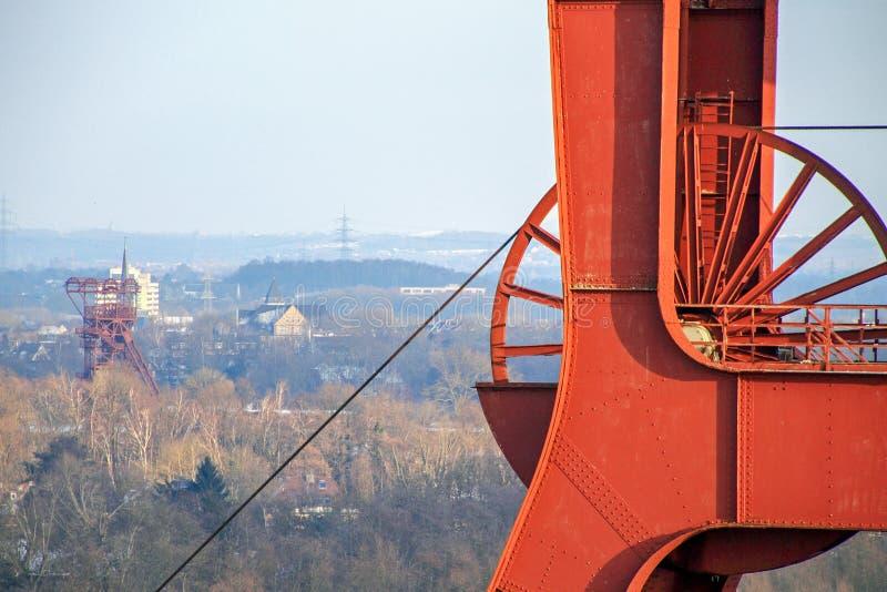 Минируя башня на Zeche Zollverein стоковые фото