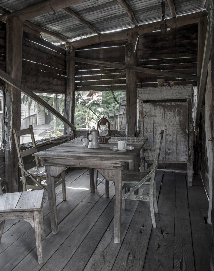 минируя старый городок стоковая фотография