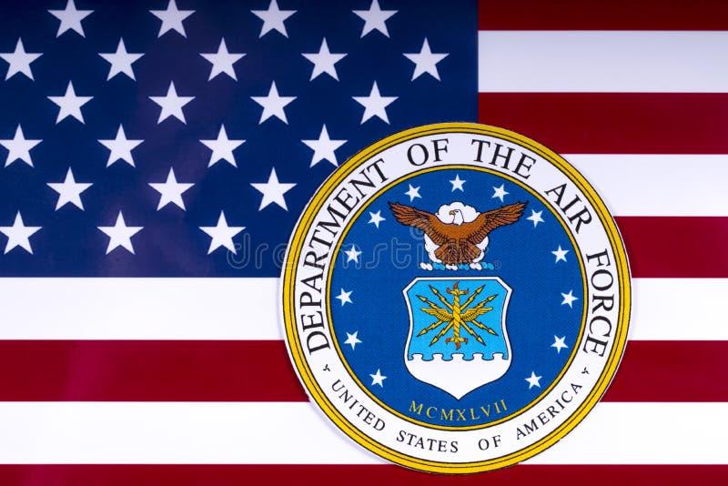 Министерство военно-воздушных сил и флаг США стоковые фото