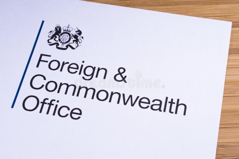 Министерство иностранных дел и по делам Содружества Великобритании стоковое изображение