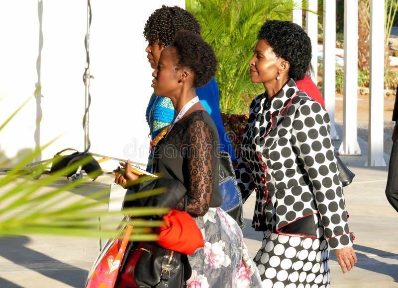 Министр иностранных дел Южной Африки Maite Эмили Nkoana-Mashabane стоковые фотографии rf