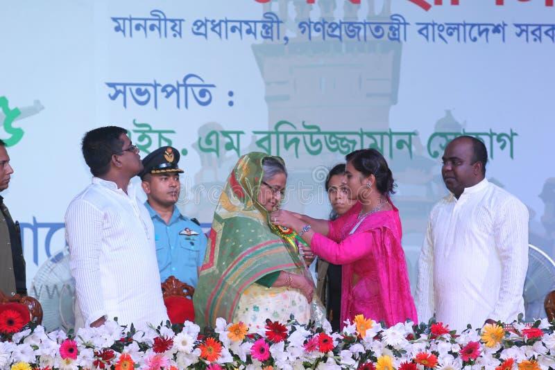 Министр Shiekh Hasina Pri Бангладеша стоковые изображения rf