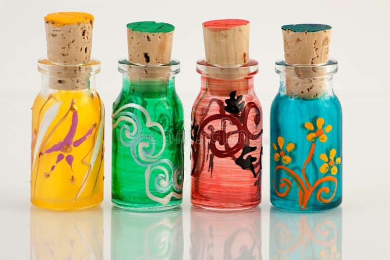 Миниые бутылки стоковые фотографии rf