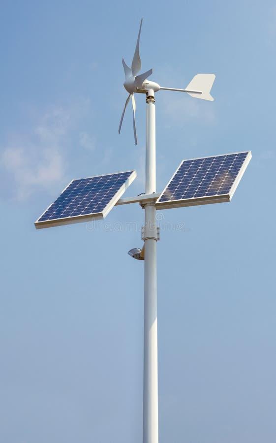 миниые панели приводят солнечный ветер в действие стоковое изображение rf