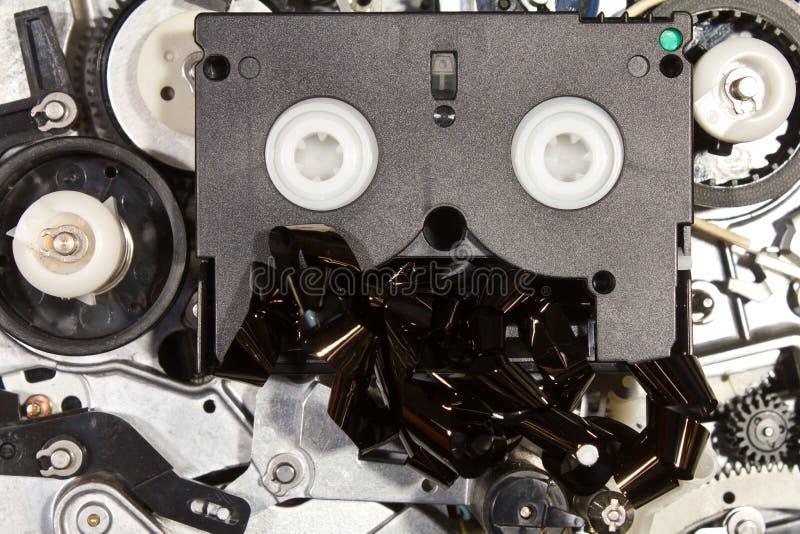 Миниый механизм DV на VHS. стоковые изображения