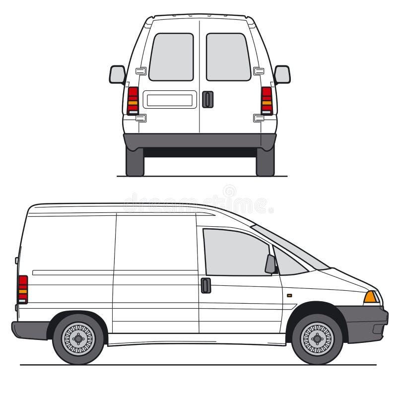 миниый фургон вектор иллюстрация штока