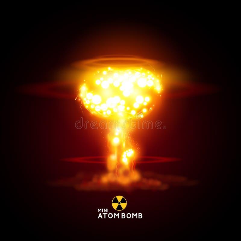 Мини атомная бомба бесплатная иллюстрация