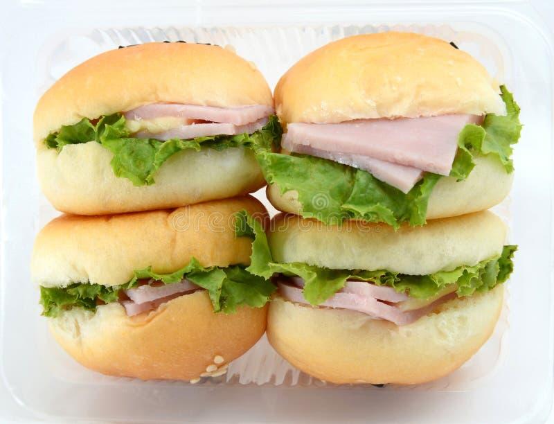 Мини гамбургеры стоковая фотография